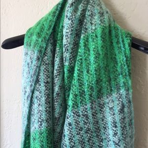 The Limited Blue/Green Cozy Blanket Scarf